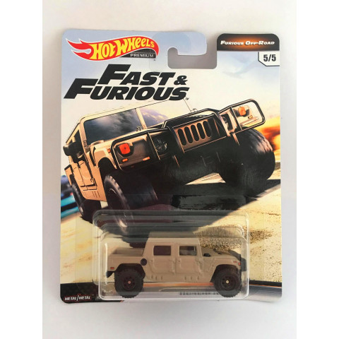 Hot Wheels - Hummer H1 Bege - Furious Off-Road - Fast e Furious - Velozes e Furiosos