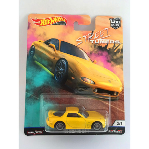 Hot Wheels - 95 Mazda Rx-7 Amarelo - Street Tuners - Car Culture