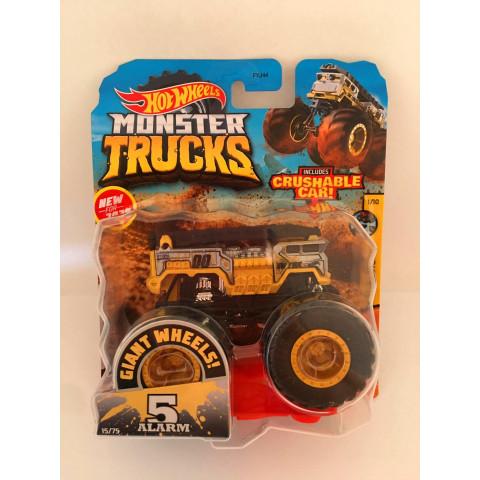 Hot Wheels - 5 Alarm Cinza/Amarelo - Giant Wheels - Monster Trucks