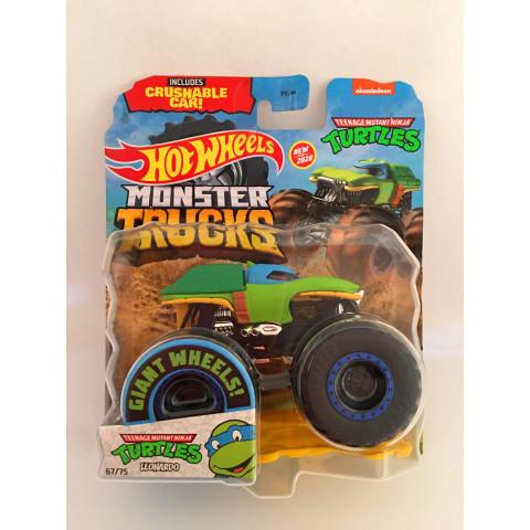 Hot Wheels - Teenage Mutant Ninja Turtles Leonardo Verde - Giant Wheels - Monster Trucks