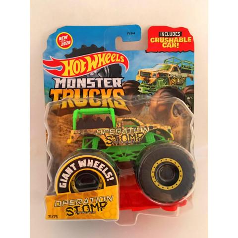 Hot Wheels - Operation Stomp Verde/Amarelo - Giant Wheels - Monster Trucks