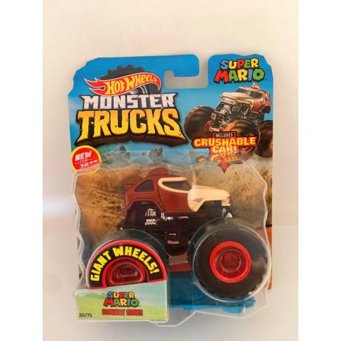 Hot Wheels - Super Mario Donkey Kong Marrom - Giant Wheels - Monster Trucks