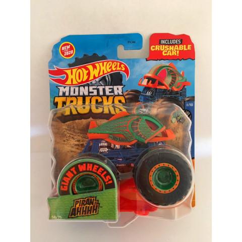 Hot Wheels - Piran-ahhhh Verde - Giant Whee Preto - Monster Trucks