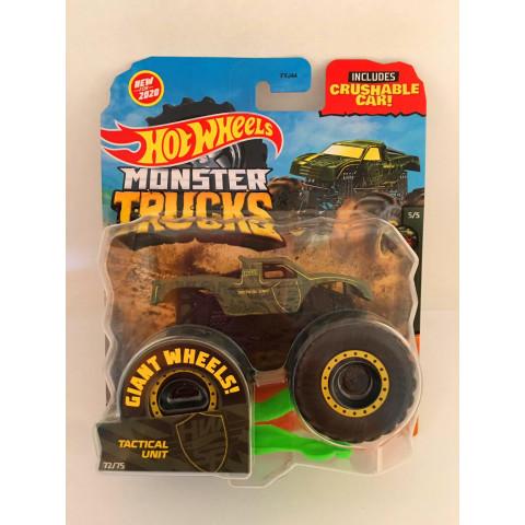 Hot Wheels - Tactical Unit Verde- Giant Wheels - Monster Trucks