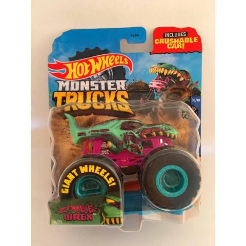 Hot Wheels - Zombie Wrex Verde - Giant Wheels - Monster Trucks