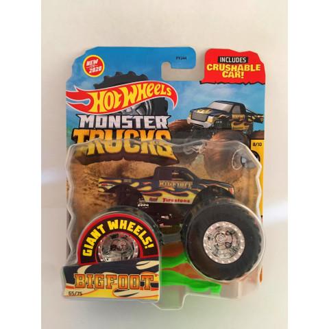 Hot Wheels - Bigfoot Azul - Giant Wheels - Monster Trucks