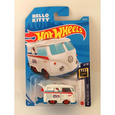 Hot Wheels - Kool Kombi Branco - Hello Kitty - Mainline 2021