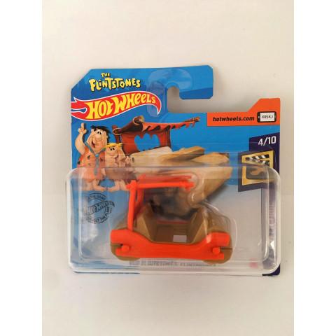 Hot Wheels - The Flintstones Flintmobile Bege Cartela Curta - Mainline 2020
