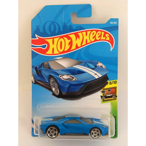 Hot Wheels - 17 Ford Gt Azul - Mainline 2018
