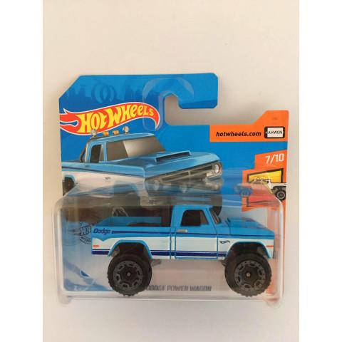 Hot Wheels - 70 Dodge Power Wagon Azul (Cartela Curta) - Mainline 2020
