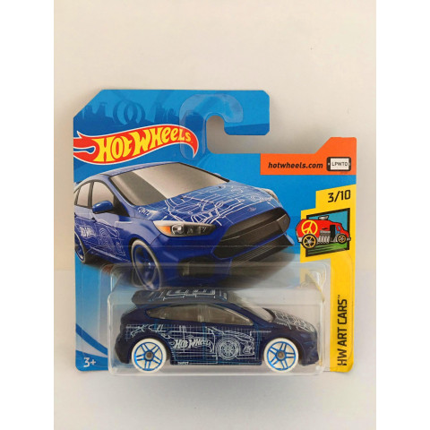 Hot Wheels - Ford Focus Rs Azul - Mainline 2018