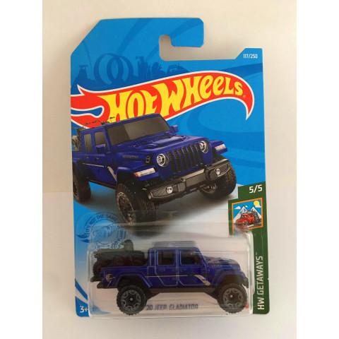 Hot Wheels - 20 jeep Gladiator Azul - Mainline 2021