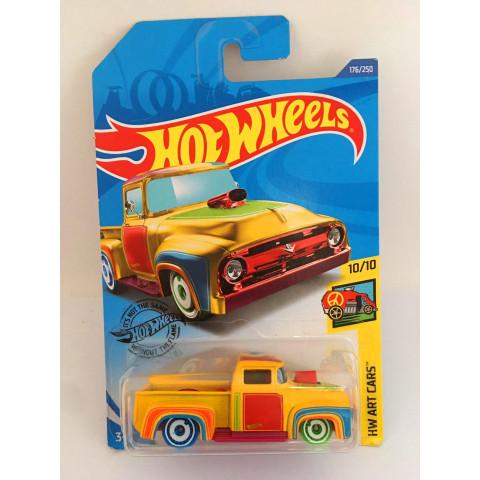 Hot Wheels - Custom 56 Ford Truck Amarelo - Mainline 2019