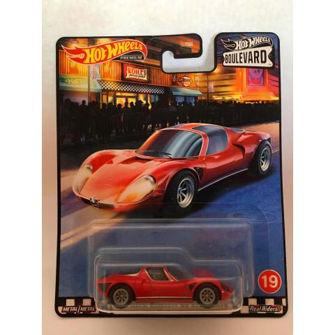 Hot Wheels - 69 Alfa Romeo 33 Stradale Vermelho - Boulevard