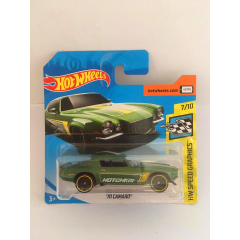 Hot Wheels - 70 Camaro Verde - Mainline 2018