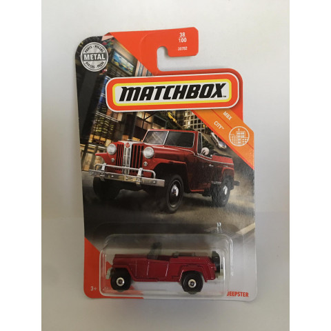 Matchbox - 1948 Willys Jeepster Vinho - Mbx City 2020