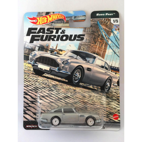 Hot Wheels - Aston Martin DB5 Cinza - Fast e Furious - Euro Fast
