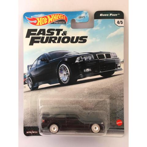 Hot Wheels - BMW M3 E36 Preto - Fast e Furious - Euro Fast