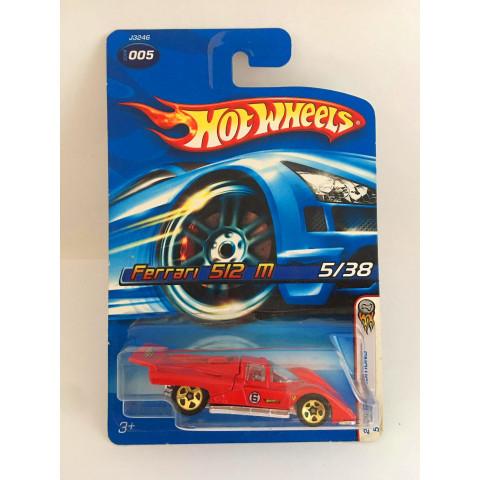 Hot Wheels - Ferrari 512M Vermelho - Mainline 2006