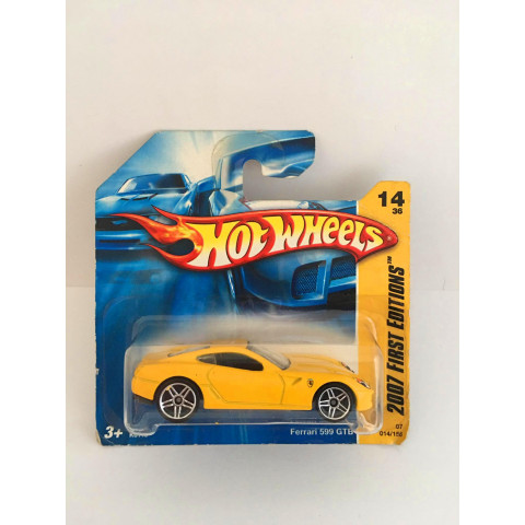 Hot Wheels - Ferrari 599 GTB Amarelo - Mainline 2008