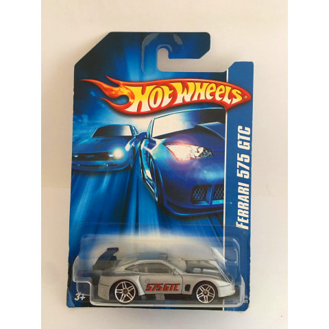 Hot Wheels - Ferrari 575 GTC Cinza - Mainline 2007