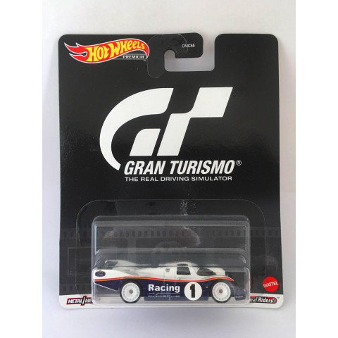 Hot Wheels - Porche 962 Azul/Branco - Gran Turismo - Retro Mix T
