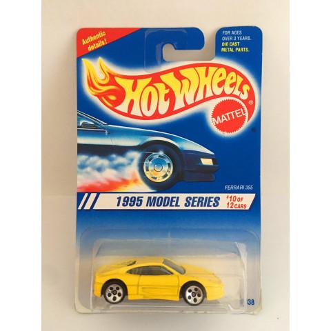 Hot Wheels - Ferrari 355 Amarelo - Roda 5DOT - Mainline 1995