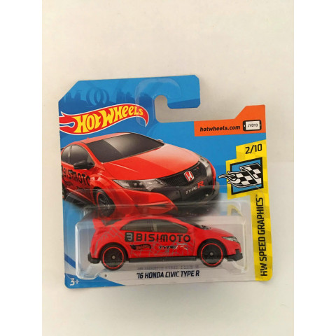 Hot Wheels - 16 Honda Civic Type R Vermelho - Mainline 2018