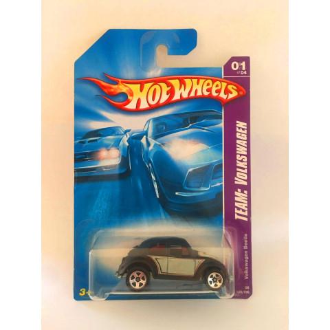 Hot Wheels - Volkswagen Beetle Preto - Mainline 2008