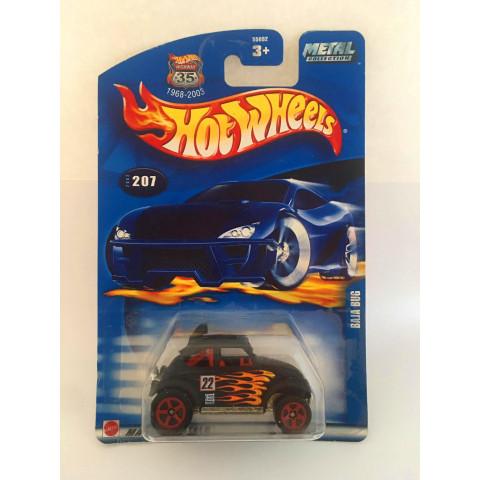Hot Wheels - Baja Bug Preto - Metal Collectors - Mainline 2002