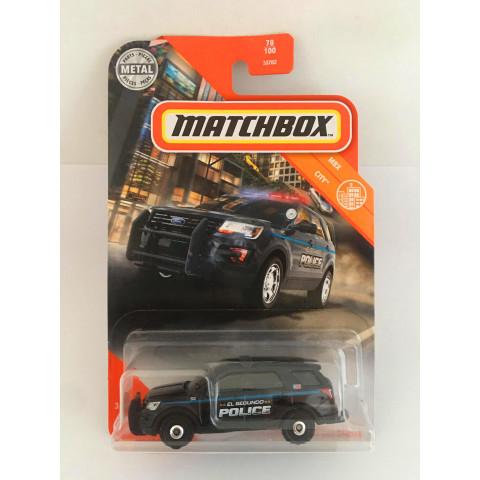 Matchbox - 2016 Ford Interceptor Utility Preto - Básico 2020
