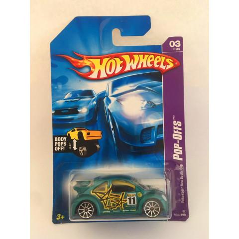 Hot Wheels - Volkswagen New Beetle Cup Verde Roda Prata - Mainline 2007