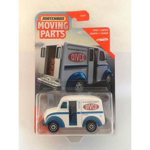 Matchbox - Divco Milk Truck Branco - Moving Parts