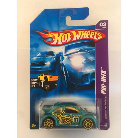 Hot Wheels - Volkswagen New Beetle Cup Verde Roda Amarela - Mainline 2007