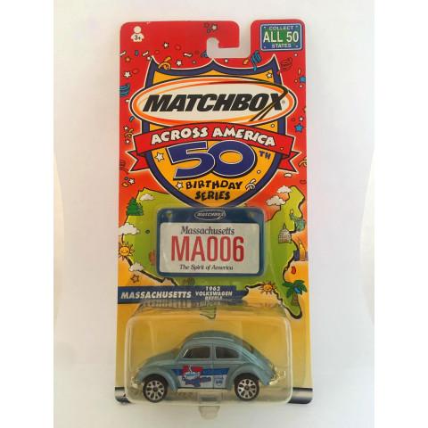 Matchbox - 1962 Volkswagen Beetle - Across America 50th Birthday Series