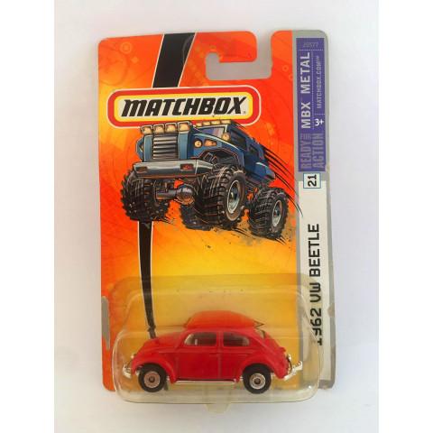 Matchbox - 1962 VW Beetle Vermelho - Ready for Action