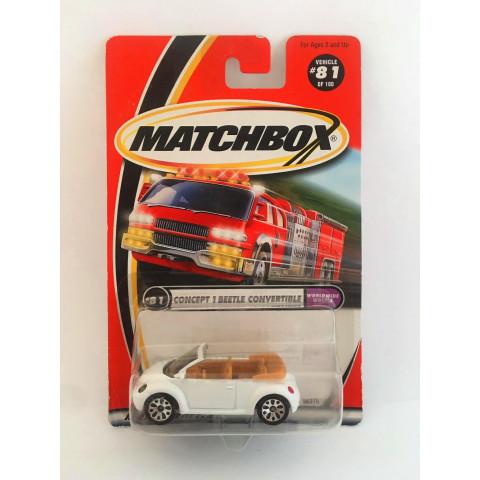 Matchbox - Concept 1 Beetle Convertible Branco (Roda 10) - Básico