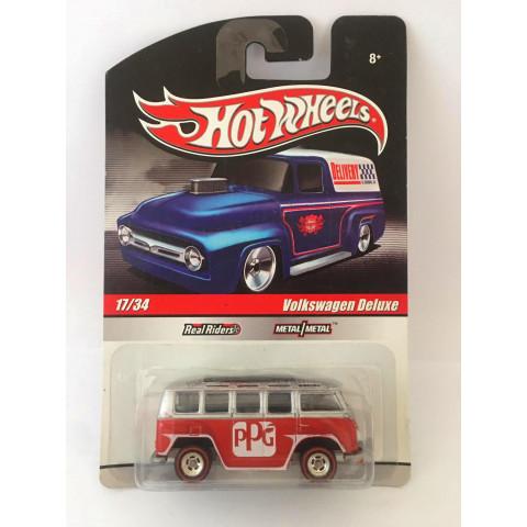 Hot Wheels - Volkswagen Deluxe Cinza/Vermelho - Delivery
