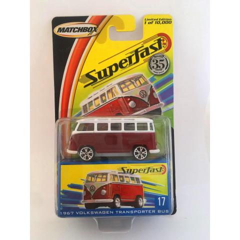 Matchbox - 1967 Volkswagen Transporter Bus Vermelho - Superfast