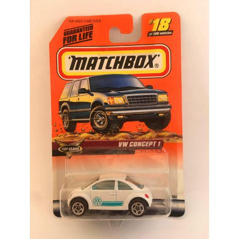 Matchbox - VW Concept 1 Branco - Básico 1999