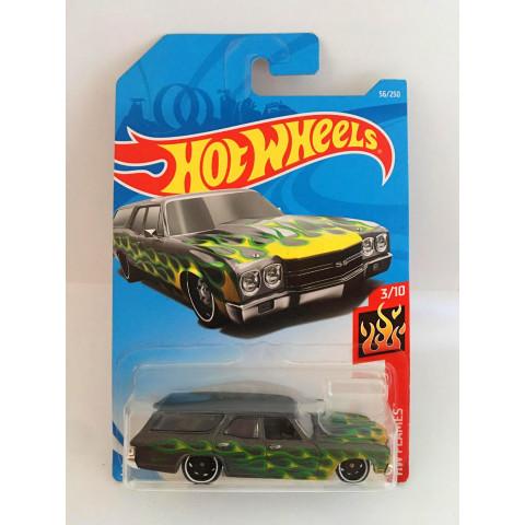 Hot Wheels - 70 Chevelle SS Wagon Verde - Mainline 2019