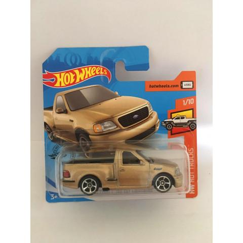 Hot Wheels - 99 Ford F-150 SVT Lightning Dourado Cartela Curta - Mainline 2020