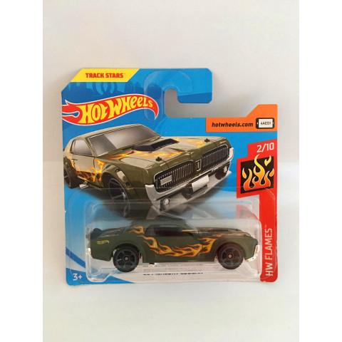 Hot Wheels - 68 Mercury Cougar Verde - Mainline 2019 (Cartela Curta)