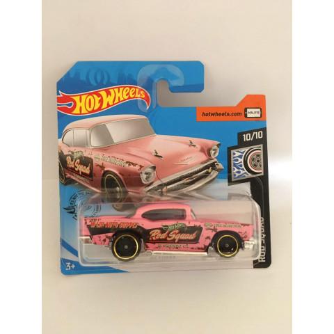 Hot Wheels - 57 Chevy Rosa - Cartela Curta - Mainline 2020