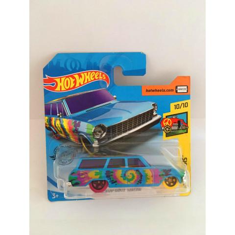 Hot Wheels - 64 Chevy Nova Wagon Azul - Mainline 2019 (Cartela Curta)