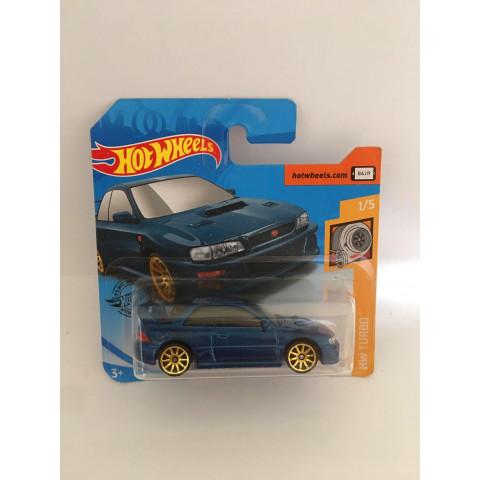 Hot Wheels - 98 Subaru Impreza 22B Sti-Version Azul Cartela Curta - Mainline 2020