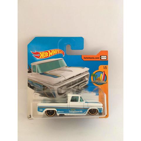 Hot Wheels - Custom 62 Chevy Pickup Branco Cartela Curta - Mainline 2017