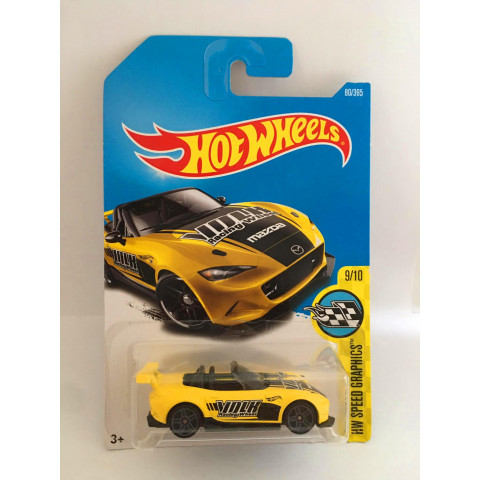 Hot Wheels - 15 Mazda MX-5 Miata Amarelo - Mainline 2017