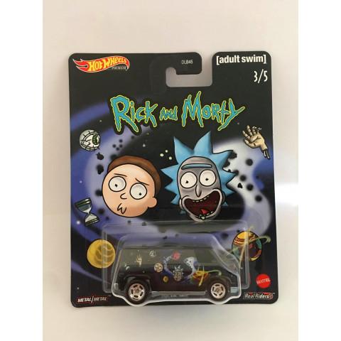Hot Wheels - Super Van Preto - Rick and Morty