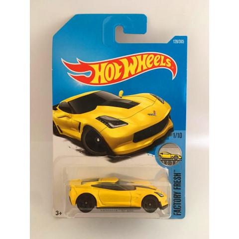 Hot Wheels - Corvette C7 Z06 Amarelo - Mainline 2017